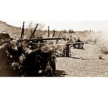 Union Troops Firing Line Photographic Print
