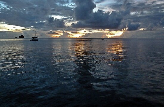 Caribbean Sunset by globeboater