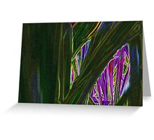 Monkey Grass Greeting Card