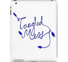 Tangled Mess Blue iPad Case/Skin