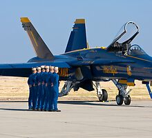 Blue Angels - Pre Take Off Ceremonies by Buckwhite