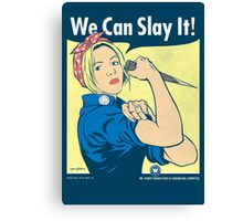 Buffy the Riveter Canvas Print
