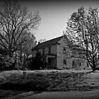 Old Farmhouse in B&W by tanya breese