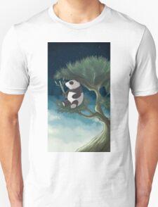Panda on a tree Unisex T-Shirt