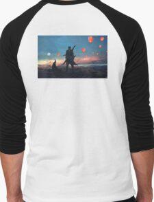 Sky lantern  Men's Baseball ¾ T-Shirt