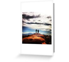 Couple Hike Greeting Card