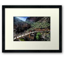 Fish Creek Bridge Framed Print