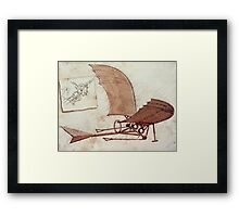 Da Vinci's flying machine Framed Print