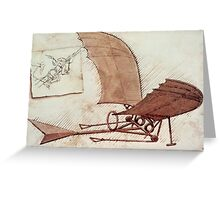 Da Vinci's flying machine Greeting Card