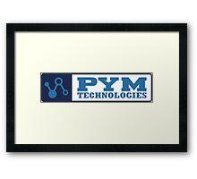 Pym Tech Blue Logo Framed Print