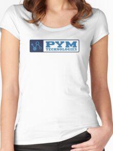 Pym Tech Blue Logo Women's Fitted Scoop T-Shirt