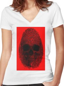 Identity Theft Women's Fitted V-Neck T-Shirt