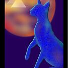 'Bast Cat',Titled Greeting Card or Small Print by luvapples downunder/ Norval Arbogast