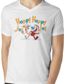 Happy Happy Joy Joy Mens V-Neck T-Shirt
