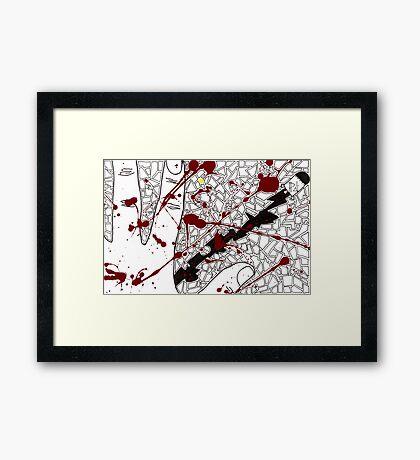 Red Rocket Framed Print