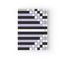 Purple Flowers Bloom Geometrically Hardcover Journal