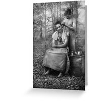 Barber - WWII - GI Haircut Greeting Card