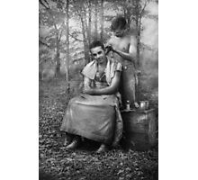 Barber - WWII - GI Haircut Photographic Print