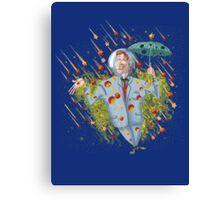 Meteor Shower Weather Man Canvas Print