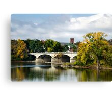 Memorial Street Bridge Landscape Art Canvas Print