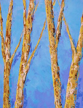 BirchTrees and Sky II by KAT Griffin