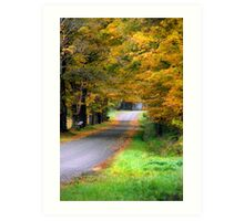 Autumn Journey Landsacpe Art Print