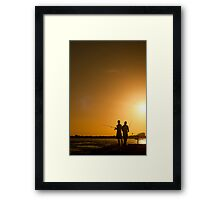 Late Fishing Framed Print