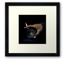 Pouring the Smoke Framed Print