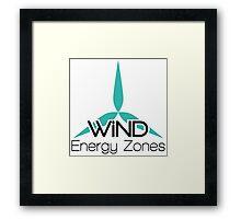 Wind Energy Zones Framed Print