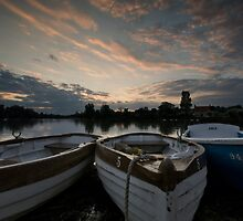 Boating Lake at Thorpness by Nigel Bangert