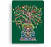 Aztec World Tree Canvas Print