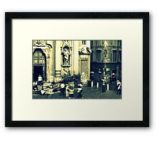 Busy square Framed Print