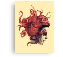 Octoheart Canvas Print