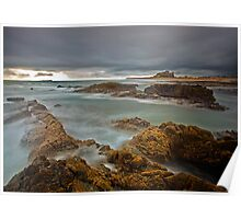 Stormy Skies over Bamburgh Castle, Northumberland Poster