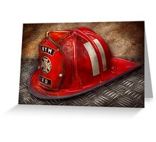 Fireman - A childhood dream Greeting Card