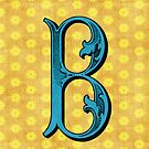 Vintage B in Blue by Karin  Hildebrand Lau