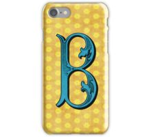 Vintage B in Blue iPhone Case/Skin