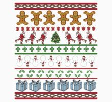 Runners Ugly Christmas Sweater  Kids Tee