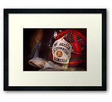 Fireman - The Lieutenants cap  Framed Print