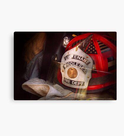 Fireman - The Lieutenants cap  Canvas Print