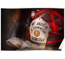 Fireman - The Lieutenants cap  Poster