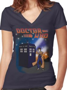 Back To The TARDIS Women's Fitted V-Neck T-Shirt