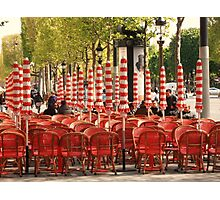 Red on the Champs Elysées Photographic Print