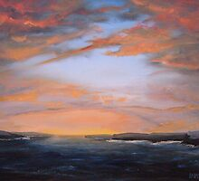 """Westray Sunset"" (Image of an Oil Painting) by LBMcNicoll"