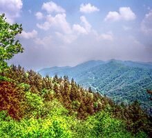 Valley Shot - North Carolina by Glenn Cecero