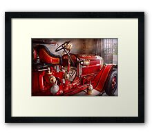 Fireman - Waiting for a call Framed Print