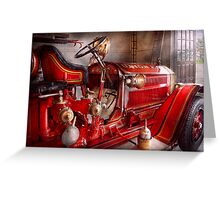 Fireman - Waiting for a call Greeting Card