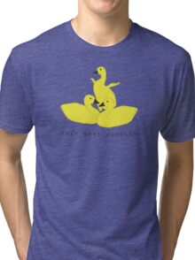 Baby geese - goslings! They were juggled! Tri-blend T-Shirt