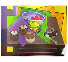 CHERRY CUP CAKES Poster