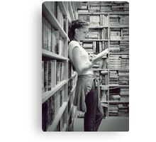 The Sweet Serenity Of Books... Canvas Print